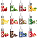 Nomeca Food Flavoring Oil, Candy Flavors Strawberry Chocolate Vanilla Flavoring Extract for Baking Cooking and Lip Gloss Maki
