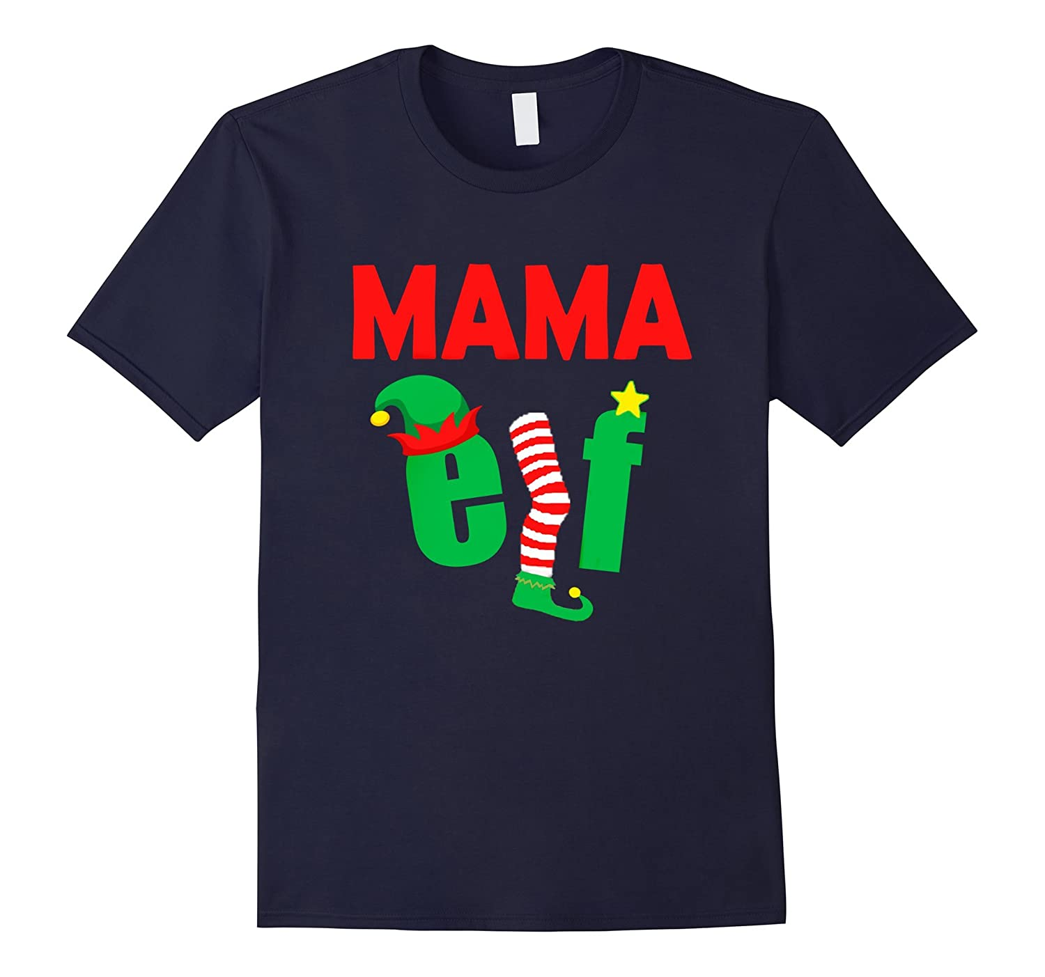 FUNNY MAMA ELF T-SHIRT Ugly Christmas Sweater Style Shirt-TH