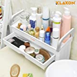 Klaxon Bathroom Cosmetic Organizer/Bathroom Accessories Shelves/Bathroom Storage Rack -with Drawer-White