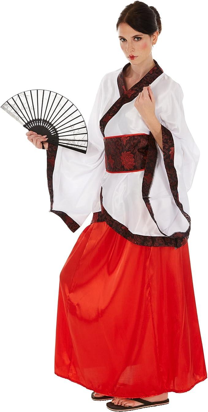 TecTake dressforfun Disfraz de Asiática Chino para Mujer | Kimono ...