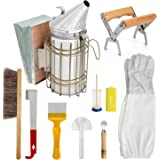 Blisstime 10 Pcs Beekeeping Supplies Tool Kit Beekeeper Bee Smoker
