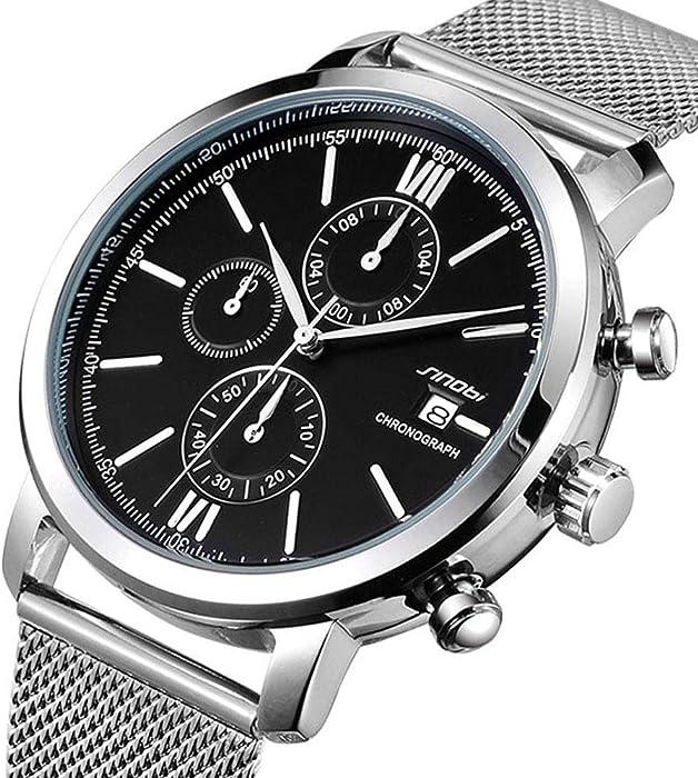 b8948d79c250 Sinobi inteligente de acero inoxidable hombres de cuarzo reloj deportivo  multifunción resistente al agua top marca lujo relojes