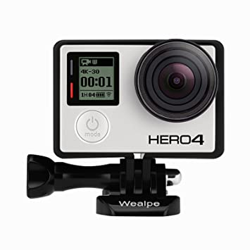 Wealpe Carcasa for Gopro Hero 4, 3 +, 3, Color Rahmen