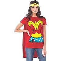 Rubie's Costume DC Comics Wonder Woman Playera con Capa y Diadema, Color Rojo