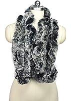 MEEFUR Women's Real Rex Rabbit Fur Winter Long Wraps
