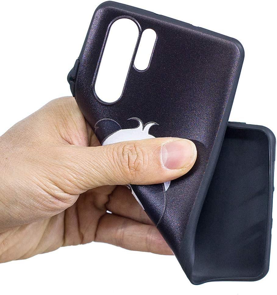 Pheant Coque Gel pour Huawei P30 Pro Housse de Protection Cover Silicone /Étui Noir avec Motif de Chouette