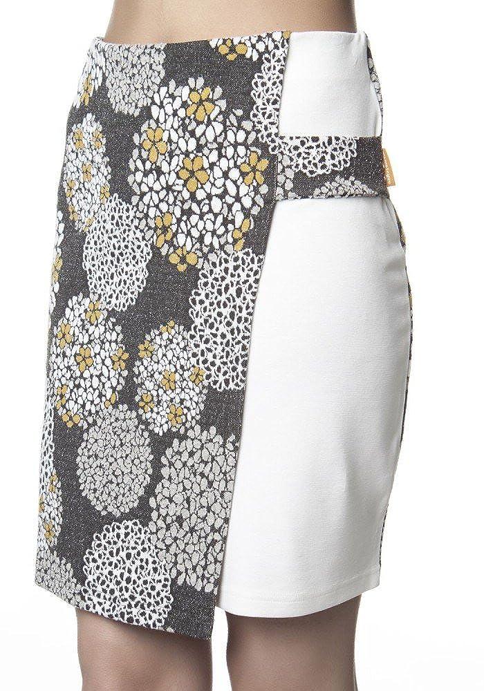 MAMATAYOE - Falda - para mujer multicolor Blanco Gris-XL: Amazon ...
