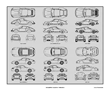 Amazon porsche 911 blueprint collection print car art gift porsche 911 blueprint collection print car art gift 20x24 malvernweather Choice Image