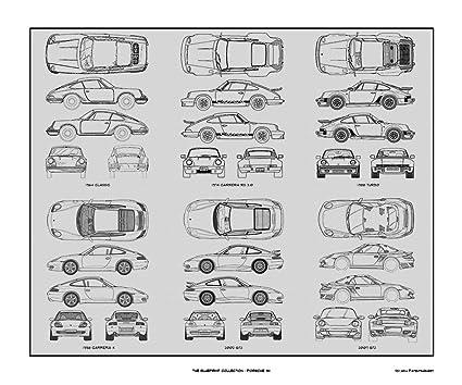 Amazon porsche 911 blueprint collection print car art gift porsche 911 blueprint collection print car art gift 20x24 malvernweather Gallery