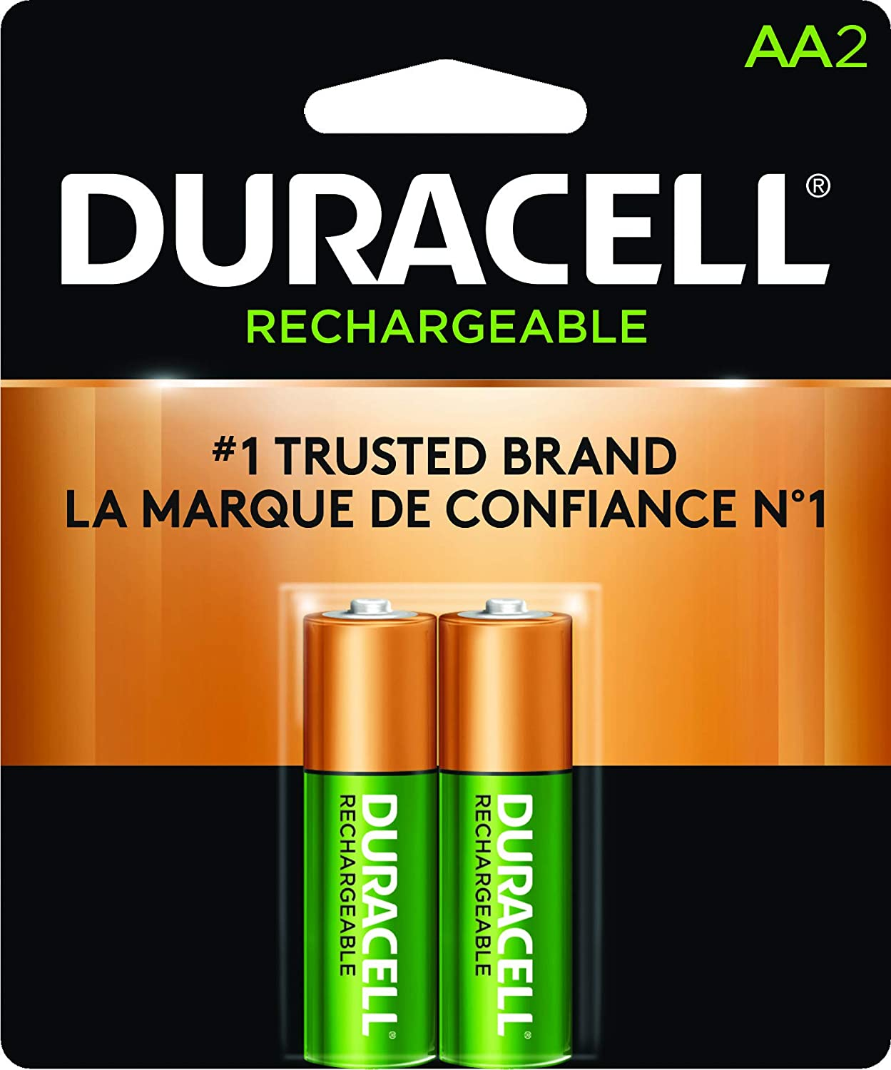 Duracell Rechargeable AA Batteries, 2 Count AA-Rechx2