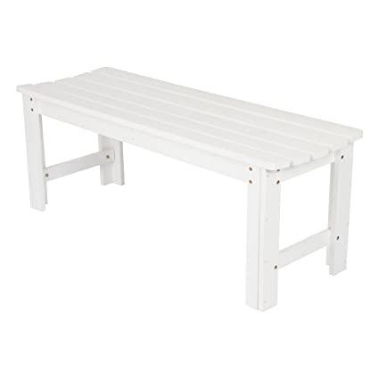 Incredible Shine Company Inc 4204Wt Backless Garden Bench 4 Ft White Ibusinesslaw Wood Chair Design Ideas Ibusinesslaworg
