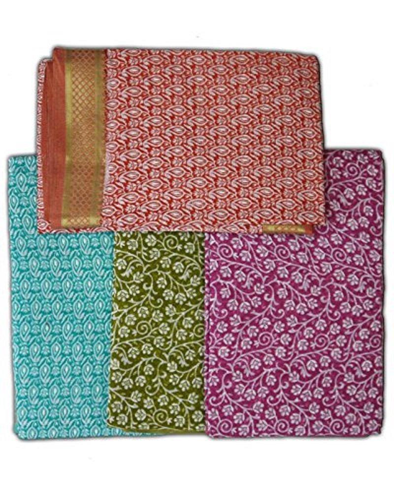 Saloni Sari Fine Jute-cotton Printed Pattern on Background