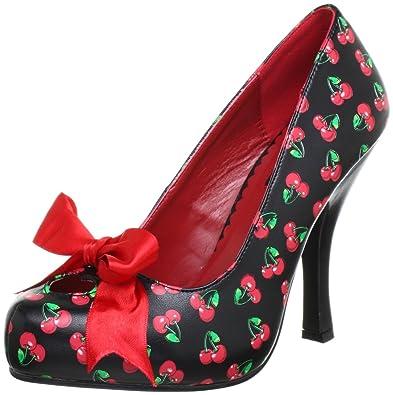 Eu-pleaser Cutiepie-06 - Chaussures À Talons Femmes En Plastique, Couleur Noire, Taille 35