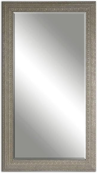 Intelligent Design Full Length Silver Beaded Frame Mirror