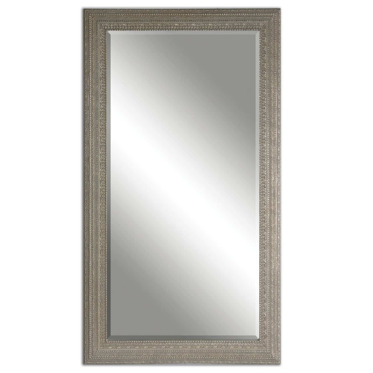 Amazoncom Full Length Silver Beaded Frame Mirror