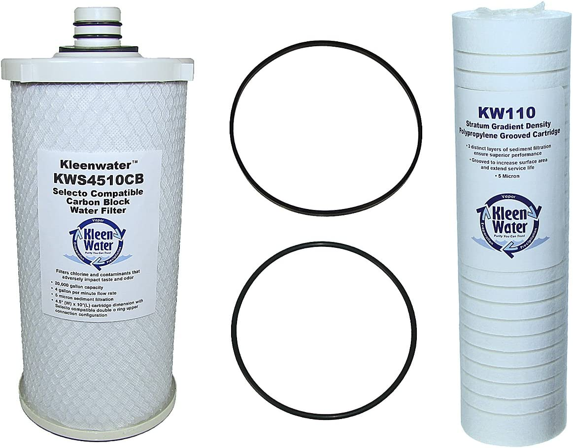 Selecto Scientific 109-0010 101-230, 101-290, 101-200 Compatible Filter Set for MF 5 600 and SW 5 600 Foodservice System, 2 O-rings