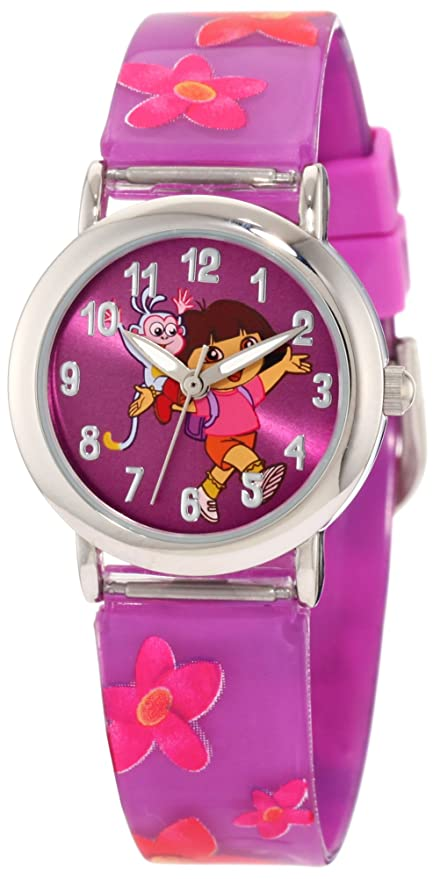 Amazon.com: Nickelodeon Dora the Explorer Kids DTE1064B Watch, Backpack, and Bracelet Gift Set: Watches