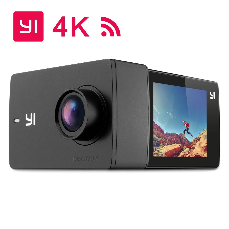 YI Discovery 4K Cámara de acción Cámara de acción Cámara Cámara de acción 8MP WiFi 150 ° Pantalla LCD de gran ángulo Sensor de pantalla táctil Sony Control remoto para APP con pilas recargables