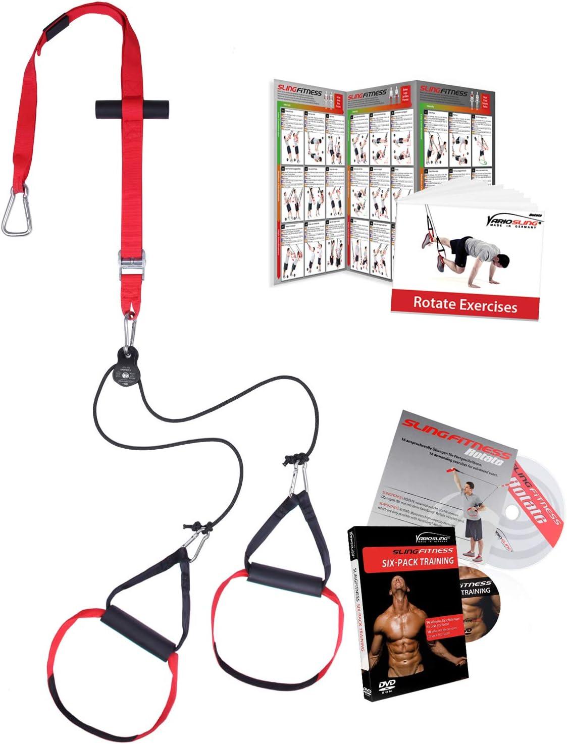 Variosling® Sistema/Kit DE ROTACIÓN de Entrenamiento en Suspensión/Sling-Trainer   Ancla de la Puerta, Póster/DVD de Ejercicios, Bolsa de Transporte   ...