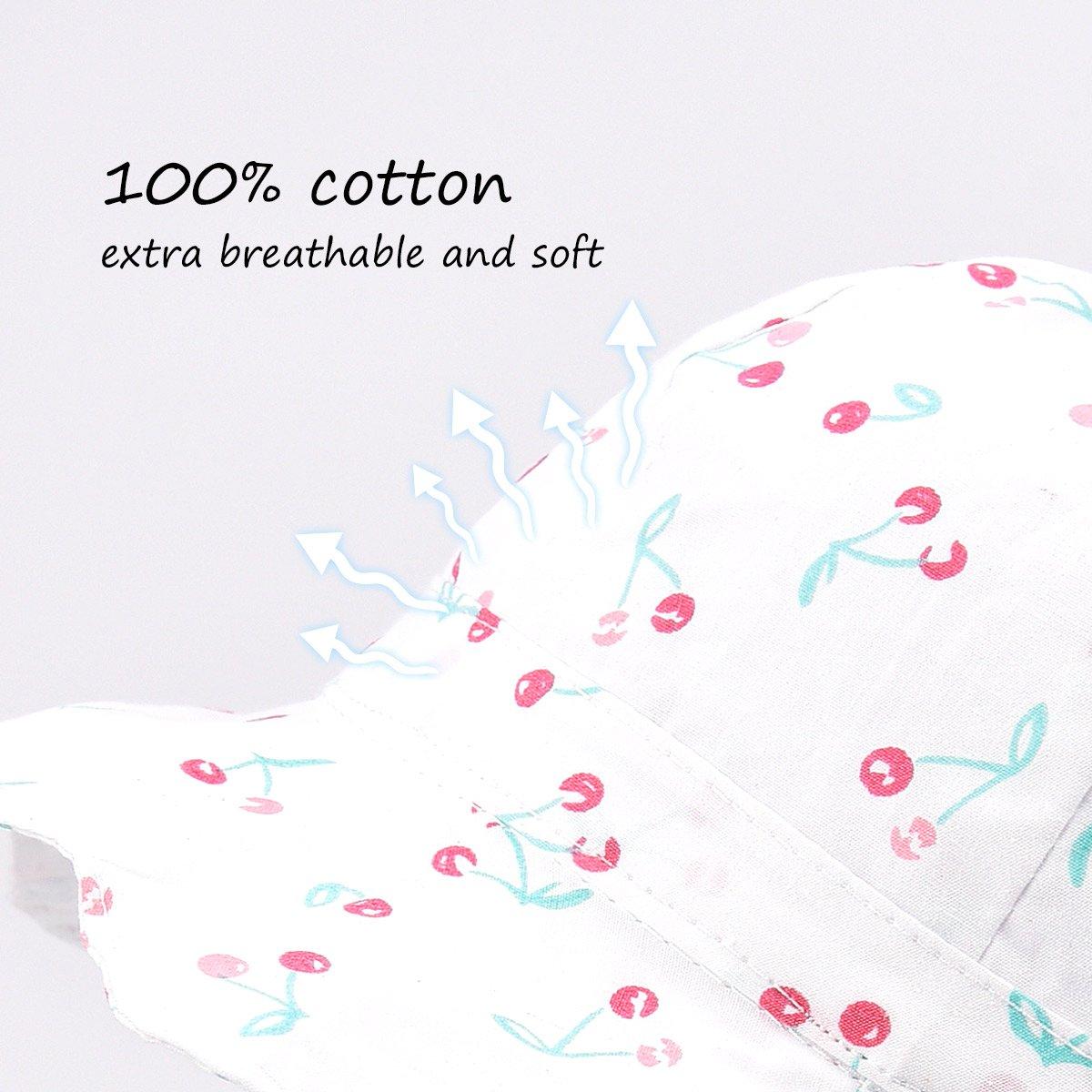 SOMALER Baby Girls Summer Sun Hat Toddler Kids Spring Lightweight Foldable Cotton Cap by SOMALER (Image #3)