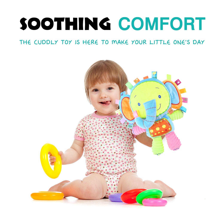 f7898992c757 Zooawa Juguete Sonajero para Bebés, Infantiles Juguetes Afelpados de Alivio  de Estrés para Bebés, Muñeca Sonajero Buena Asistente de Cuidar al bebé para  ...