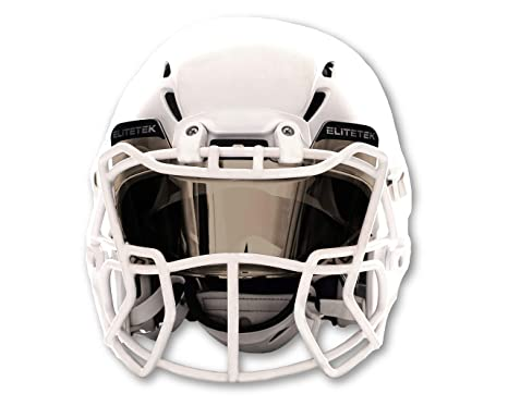 263c46259 Image Unavailable. Image not available for. Color: EliteTek Football & Lacrosse  Eye-Shield Visor (Mirrored ...