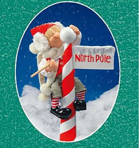 Whitehurst Zim s The Elves Themselves Reggie the Elf with North Pole Christmas Figurine New
