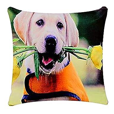 Lindo perro de perrito de Labrador con Rosas Perro Print ...