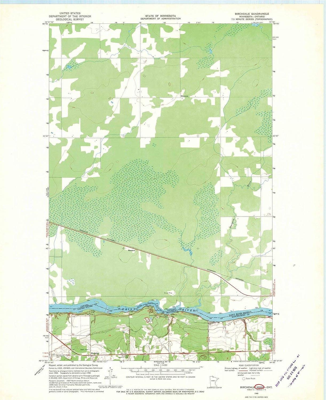 Ontario Topographic Map.Amazon Com Minnesota Maps 1968 Birchdale Mn Usgs Historical