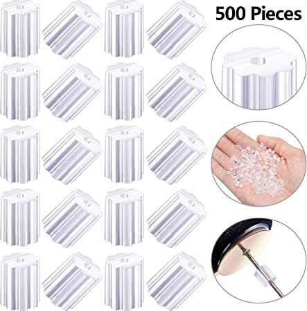 Outus 500 Pieces Clear Rubber Earring Safety Backs for Fish Hook Earrings
