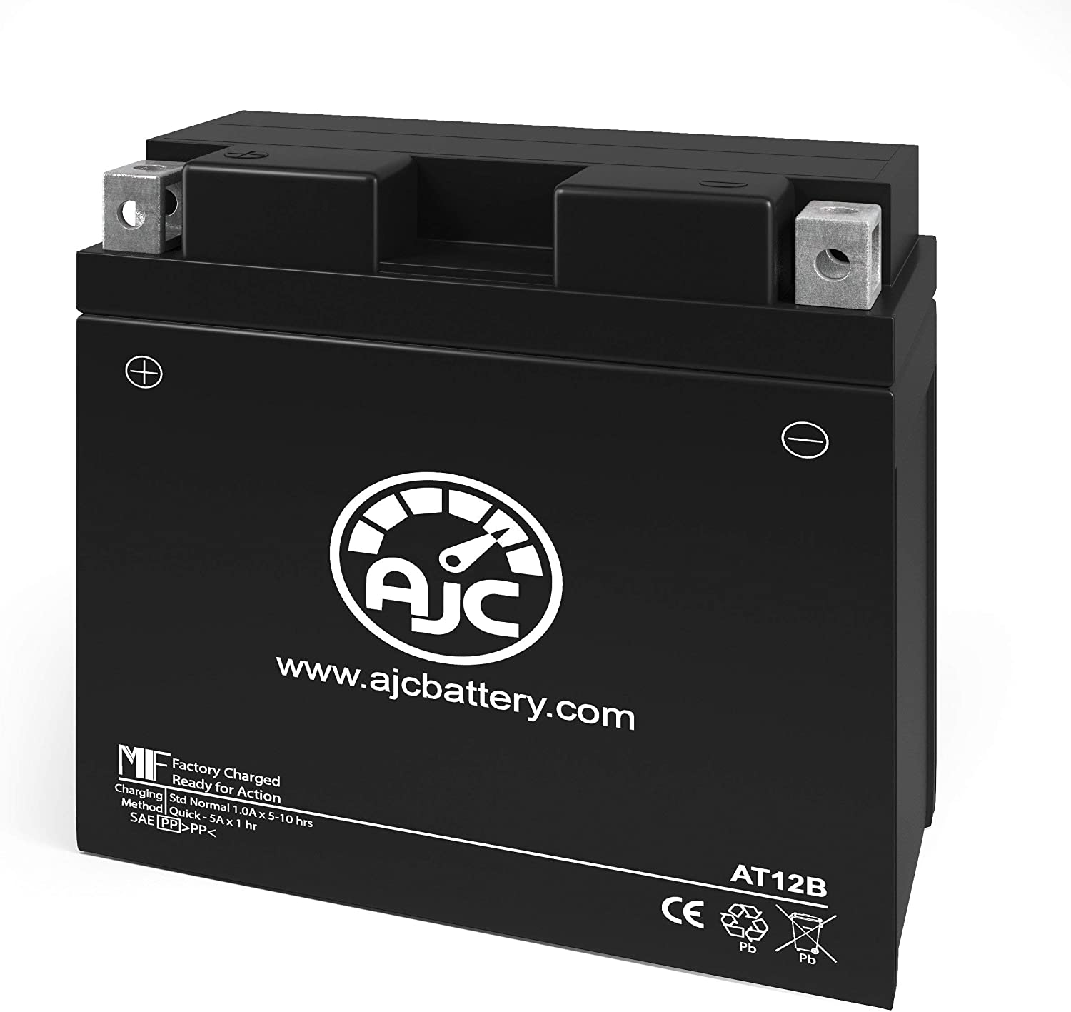 This is an AJC Brand Replacement 2007-2010 Triumph ST12B-4 1050CC Motorcycle Replacement Battery