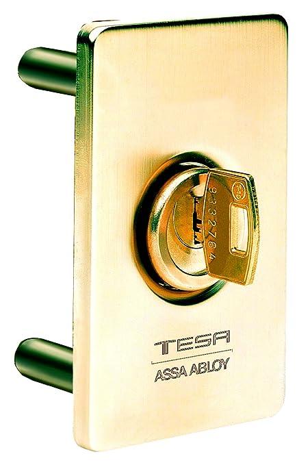 ESTS00LM - Escudo de seguridad exterior para protección de cerradura, Laton Mate: Amazon.es: Bricolaje y herramientas