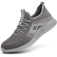 Zapatillas de Seguridad Hombres Hembra, Zapatos de Trabajo con Punta de Acero Ultra Liviano Suave y cómodo Industriales…