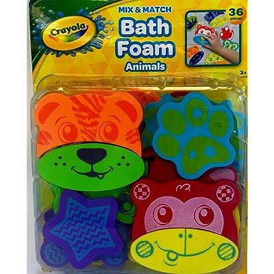 Crayola Foam Bath Animals Toys, Plus Free Bonus 1 Baby Washcloth.: Toys & Games