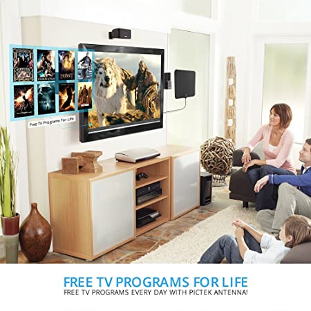 TV Antenna, Pictek Best HDTV Antenna Indoor Digital Antenna 35 Miles on home tv transmitter, home fireplace, home tv wiring diagram, home floor construction,