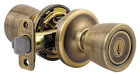 Kwikset Abbey Knob Lockset Antique Brass Keyed Entry Function  sc 1 st  Amazon.com & Kwikset Abbey Knob Lockset Antique Brass Keyed Entry Function ...
