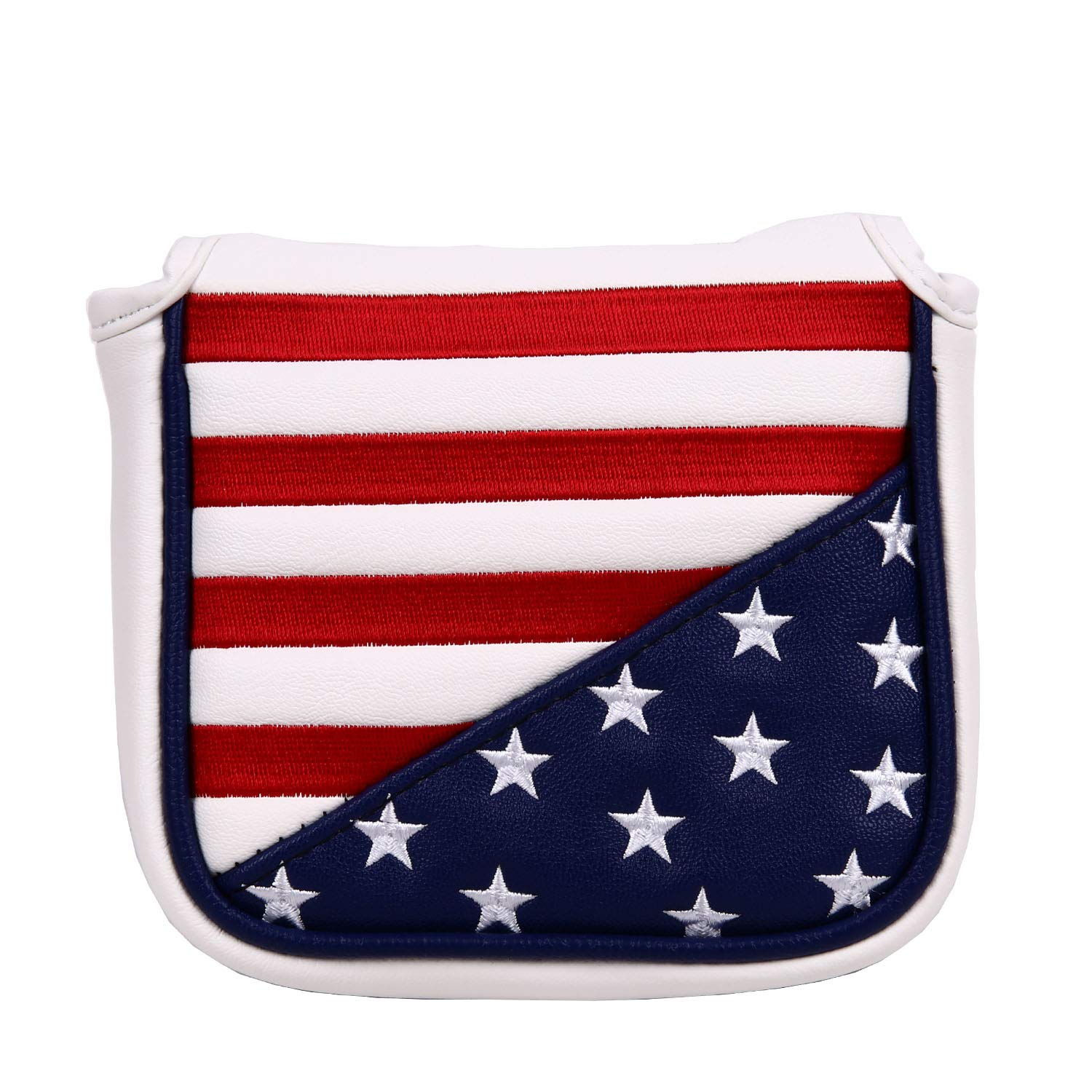 USA Stars and Stripes Square Mallet Shaped Magnetic Closure Golf Putter Head Cover for Scotty Cameron Golf Builder by Sword &Shield sports