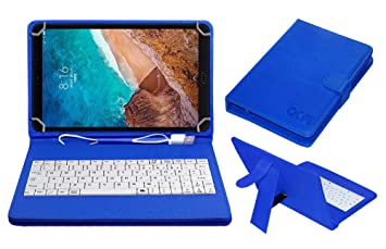 Amazon In Buy Acm Usb Keyboard Case Compatible With Xiaomi Mi Pad 4 Plus Tablet Cover Stand Study Gaming Direct Plug Play Blue Online At Low Prices In India Acm