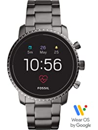 Fossil Men's Gen 4 Explorist HR Stainless Steel Touchscreen Smartwatch with Heart Rate, GPS, NFC, and Smartphone...