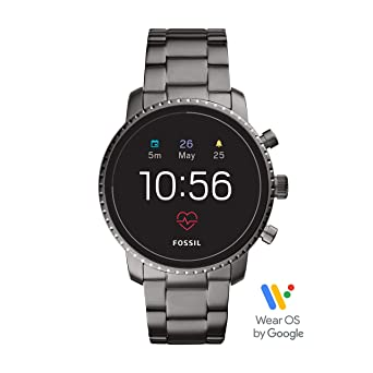 super popular e7258 3ae4a Fossil Men's Gen 4 Explorist HR Stainless Steel Touchscreen Smartwatch with  Heart Rate, GPS, NFC, and Smartphone Notifications