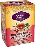 Yogi Raspberry Passion Perfect Energy Tea, 16 Tea Bags (Pack of 6), Packaging May Vary