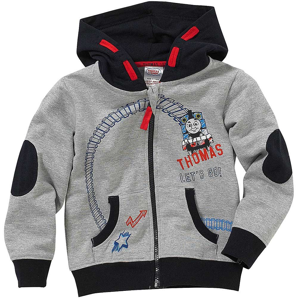 Thomas and Friends Let's Go Front and Back Print Zip Up Hoody