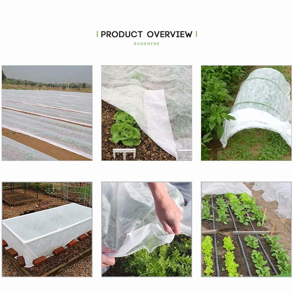 Agfabric/Plant/Cover/Freeze/Protection,16x50,1.5oz,Floating/Row/Cover for/Winter/Cold/Weather/Protection/Season/Extension