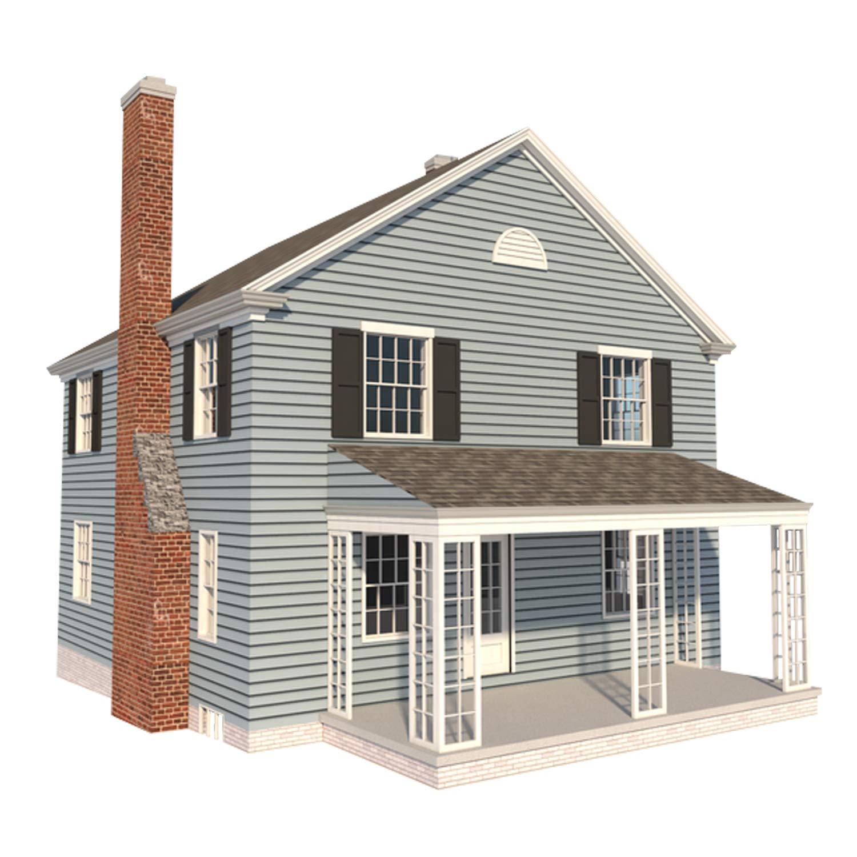. 2 Story Farmhouse Plans DIY 4 Bedroom Farm Home 1680 sq ft Build