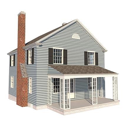 2 Story Farmhouse Plans DIY 4 Bedroom Farm Home 1680 sq/ft Build ...