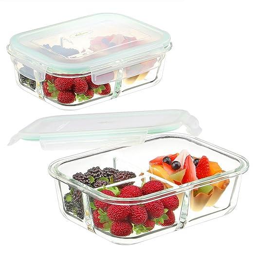 Vidrio Alimentos Contenedores 3 Compartimentos - Envases de Vidrio ...