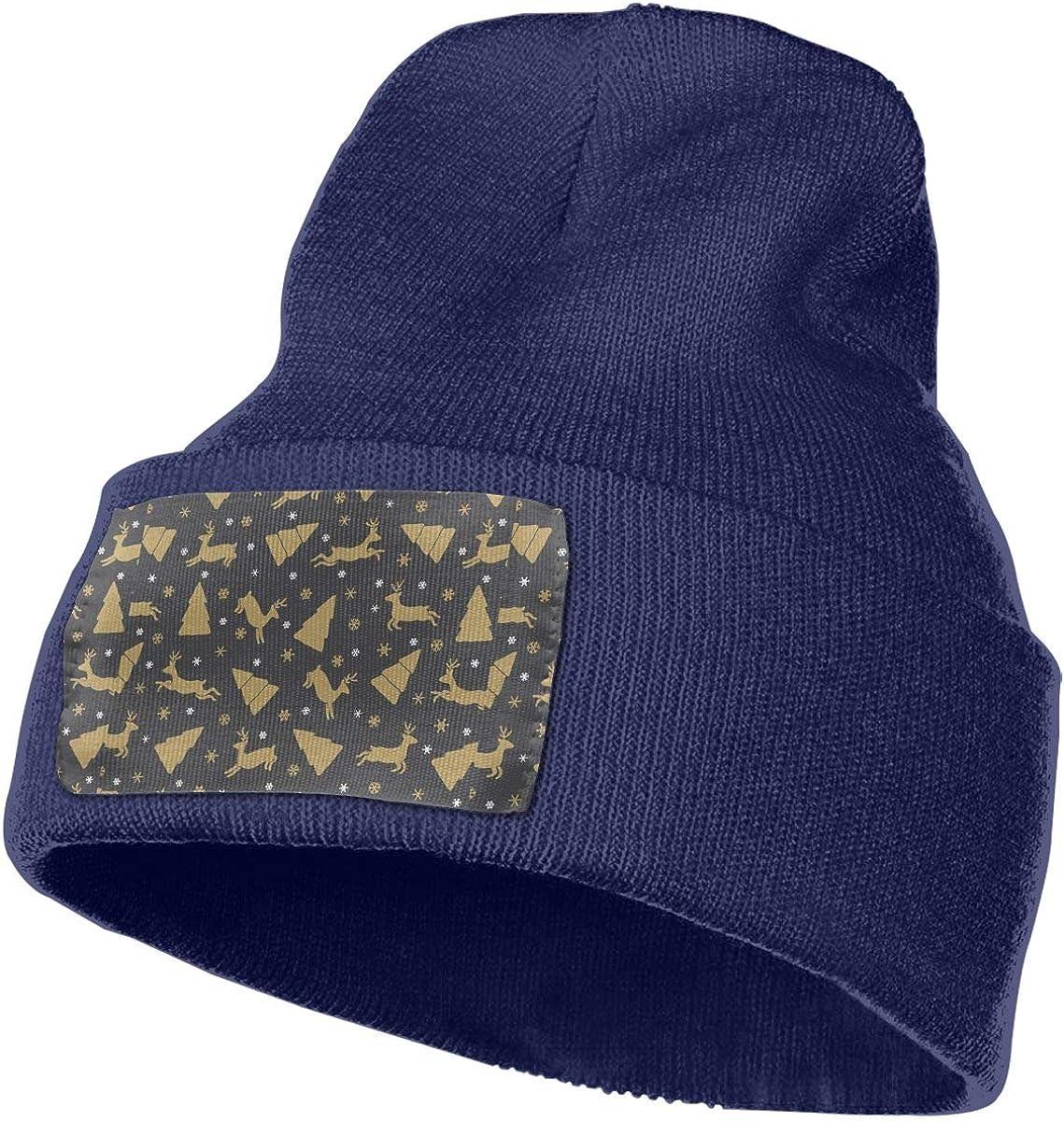 PCaag7v Deer Colorful Christmas Beanie Hat Winter Solid Warm Knit Unisex Ski Skull Cap