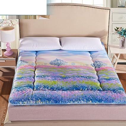 FUIOLWP Colchón/Dormitorio,Individual, colchón Tatami/colchón de Engrosamiento de Esponja/