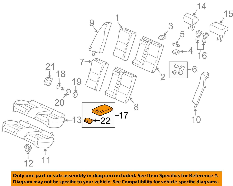 Honda Genuine 82180-TP6-A02ZA Seat Armrest Assembly Rear