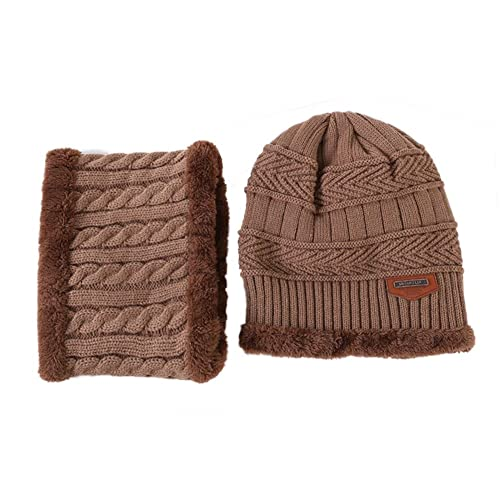 Esther Beauty - Gorro de punto - para mujer beige Light Coffee Medium
